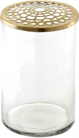 A Simple Mess Vas Kassandra 15,5 cm Klar/Mässing