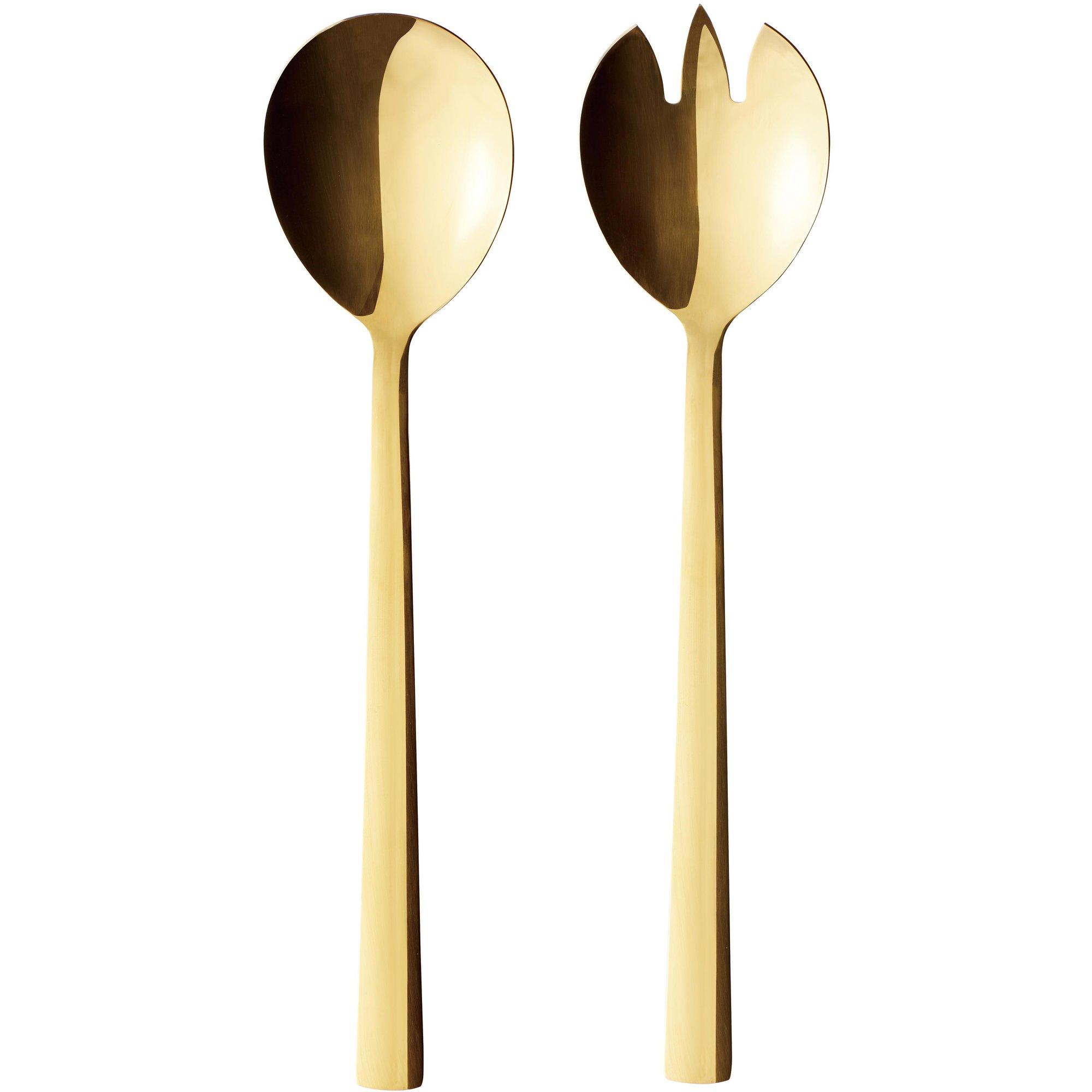 Aida RAW salladsbestick guld 2 delar