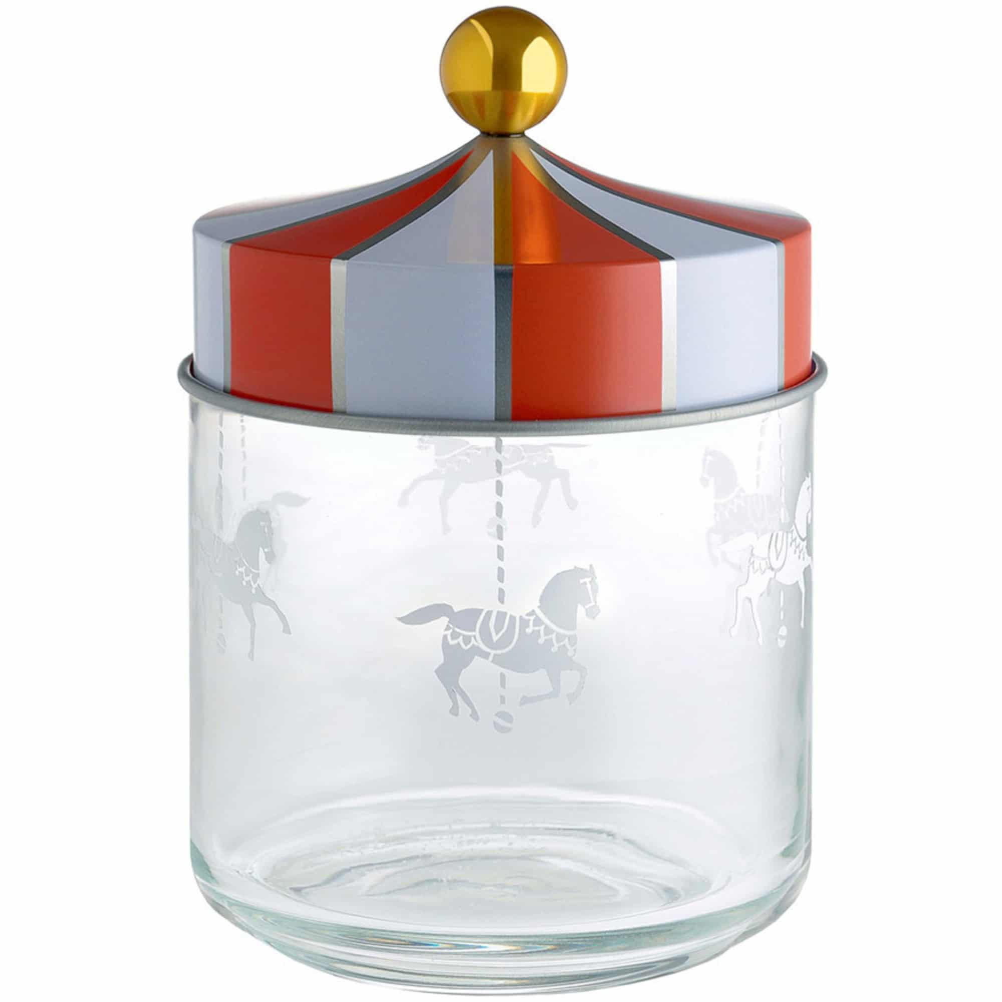 Alessi Circus Glasburk med Hermetiskt lock 75 cl