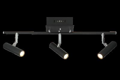 Artic 3-spot rak LED (Svart)