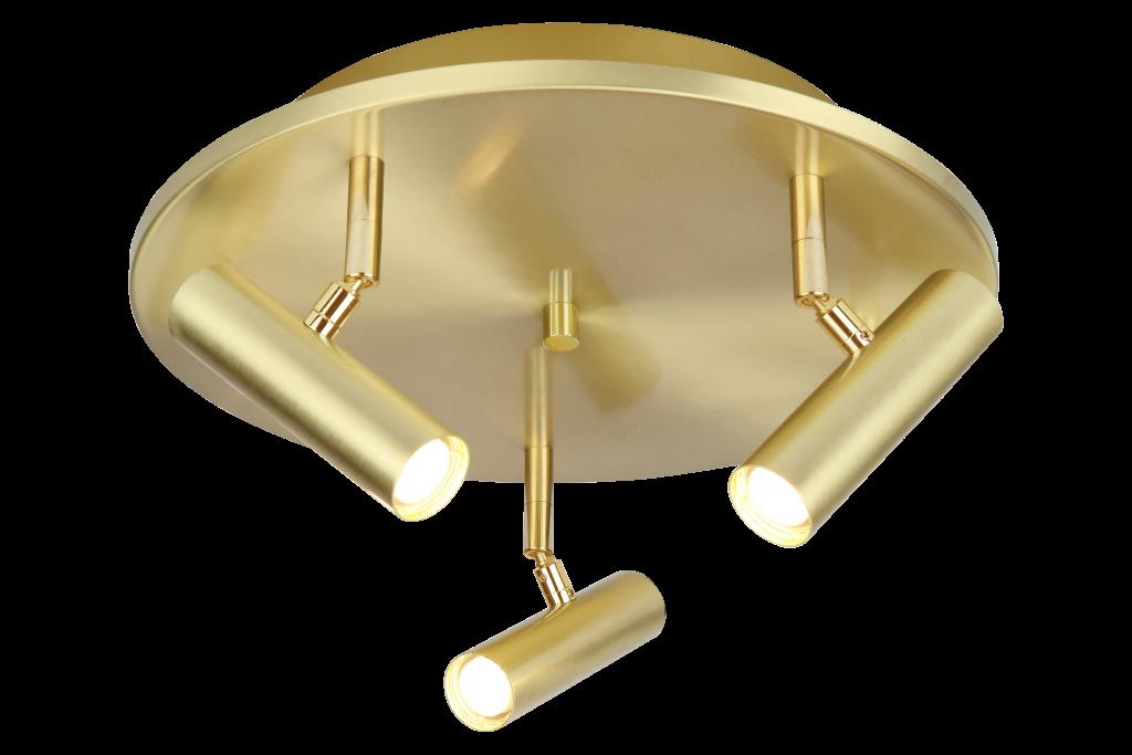 Artic 3-spot rund (Mässing/guld)