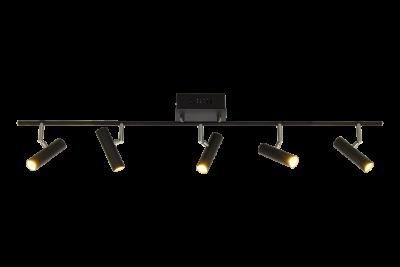 Artic 5-spot rak LED (Svart)