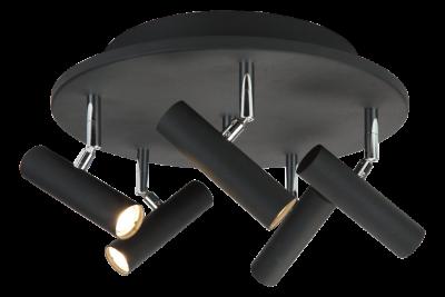 Artic 5-spot rund LED (Svart)