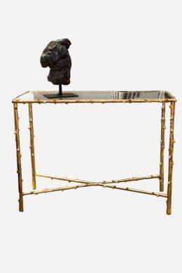 Avlastningsbord Kvist 97 cm guld