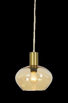 BELL fönsterlampa, matt mässing/amber