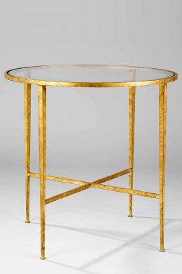 Bord Helmsley guld 61cm med spegelglas
