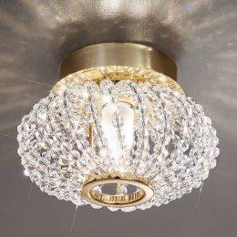 CARLA kristalltaklampa med guld