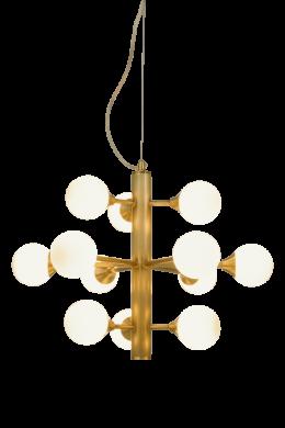 Cosmos taklampa 12-arm (Mässing/guld)