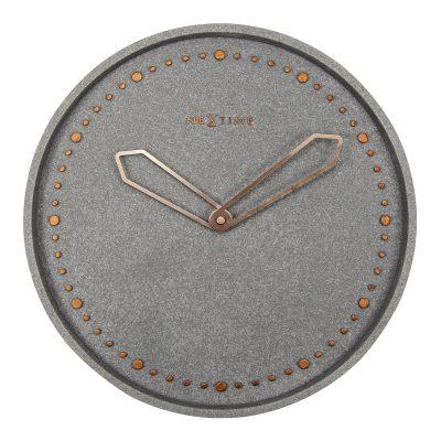 Cross Väggklocka 35 cm Grå/Guld