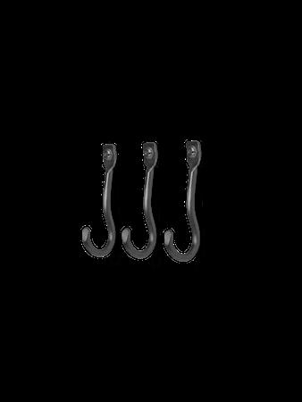 Curvature Krokar-Set om 3 Svart mässing
