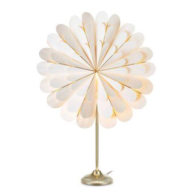 Dekostjärna Marigold som bordslampa, vit/mässing