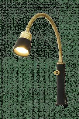 EKETORP sänglampa, svart/matt mässing
