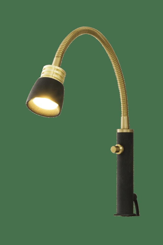 Eketorp Flex LED sänggavel (Svart)