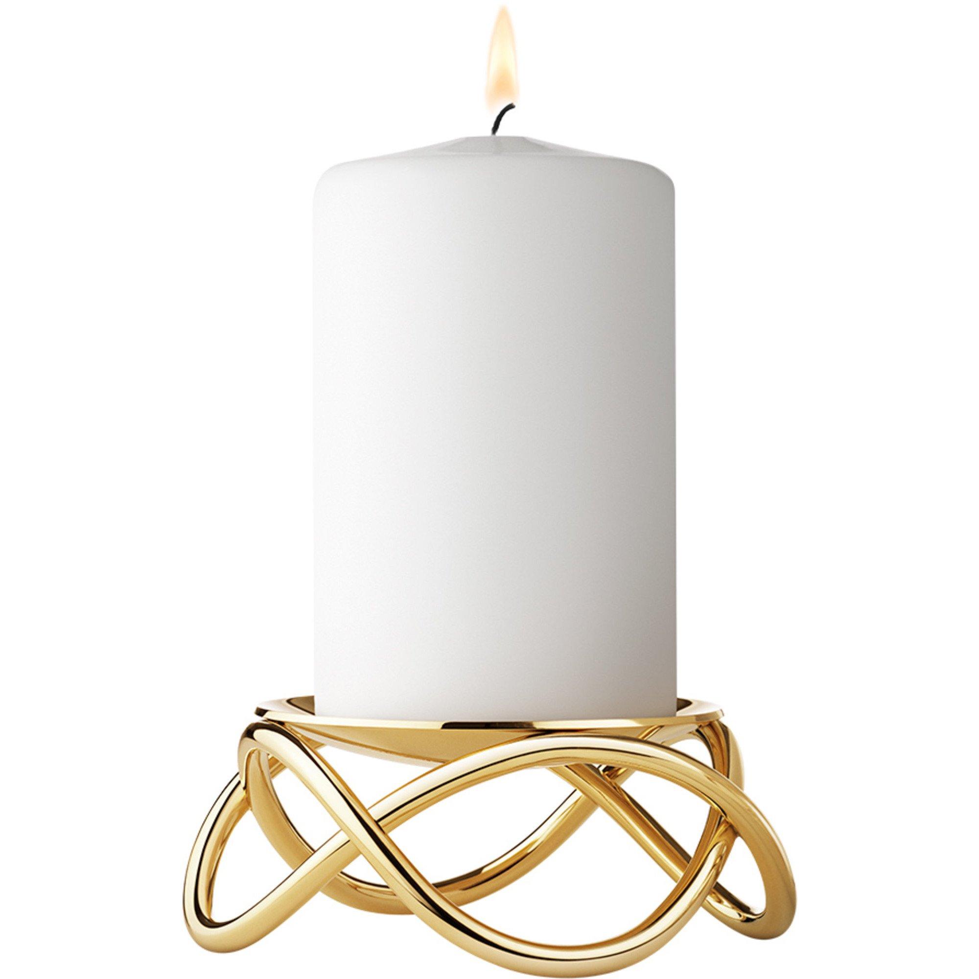 Georg Jensen Glow Ljusstake Förgyllt rostfritt stål, Guld