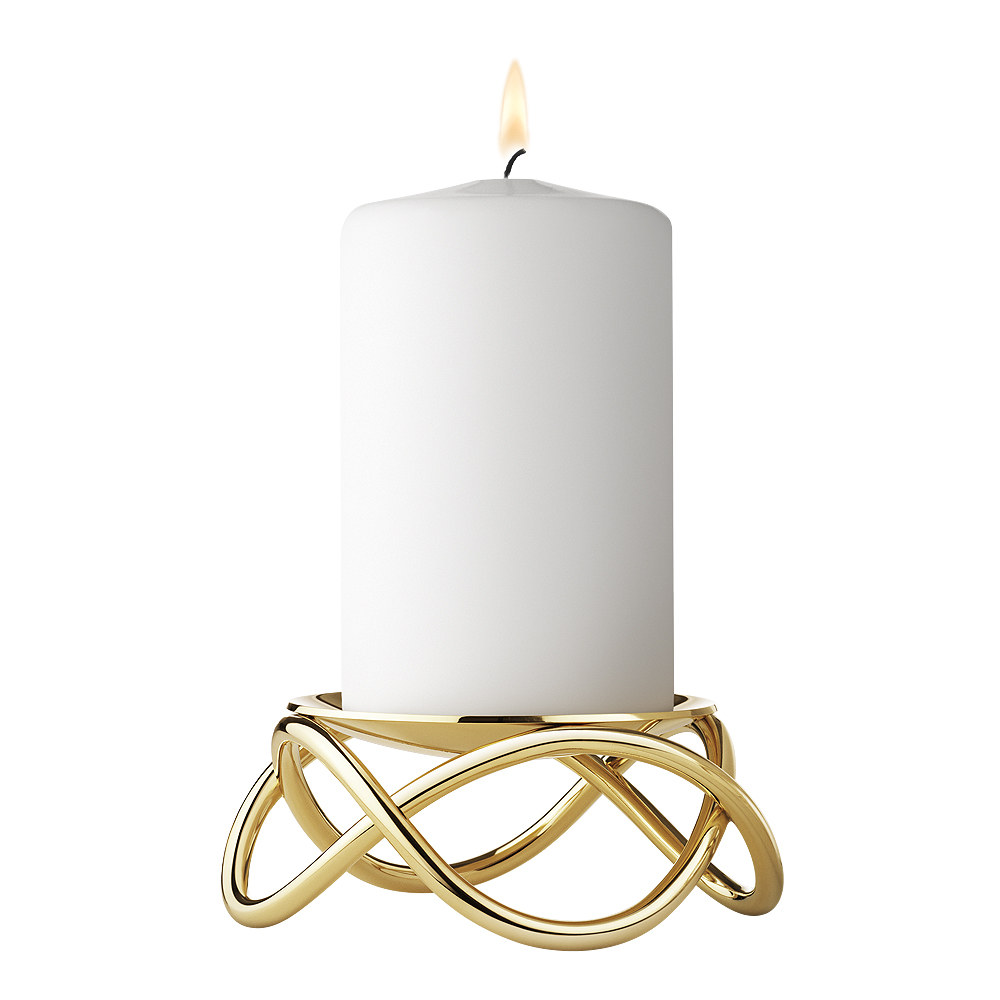 Georg Jensen – Glow Ljusstake 10 cm Guld