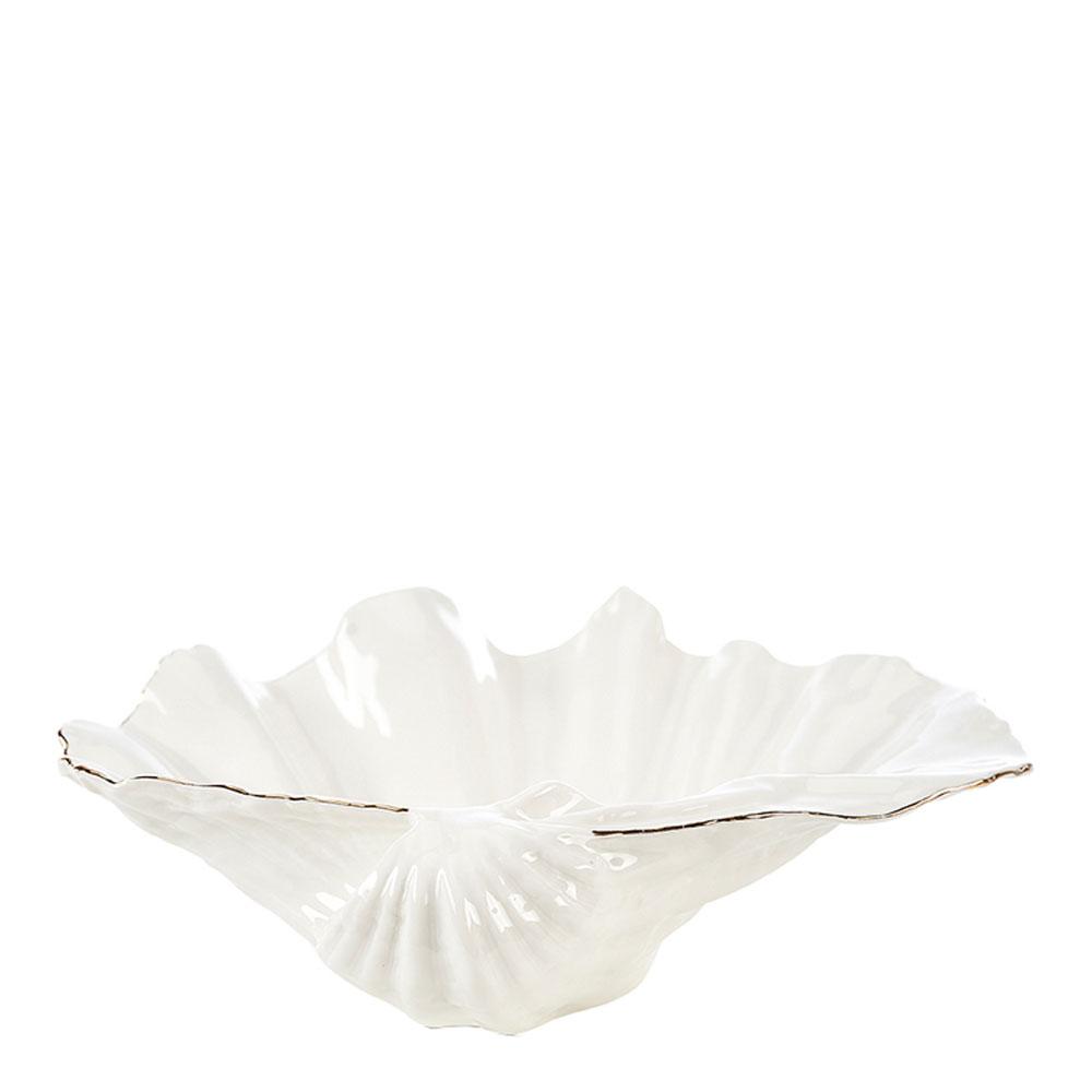 Gynning Design – Snäckskål Vit/Guld 33×10 cm