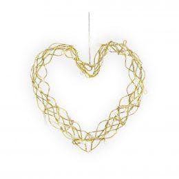 Hjärta LED 34cm (Mässing/guld)