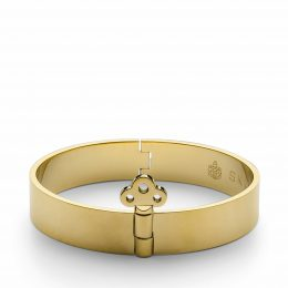 Key Lock Bangle, guld, MEDIUM