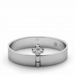 Key Lock Bangle, stål, MEDIUM