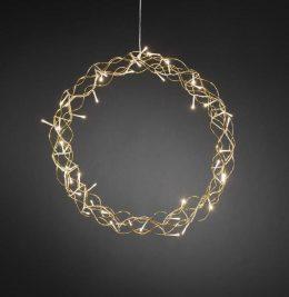Krans 45cm varmvita LED (Mässing/guld)