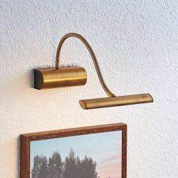 LED-tavelbelysning Rakel, flexarm, antikmässing