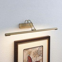 LED-tavellampa Mailine, omkopplare, antikmessing