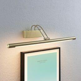 LED-tavellampa Mailine, omkopplare, mässing