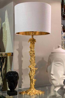 Lampfot Drip Guld