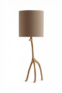 Lampfot Giraff guld