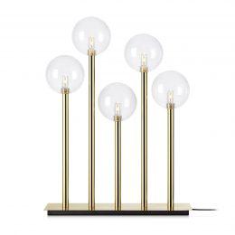 Ljusstake Levels, 5 lampor, mässing