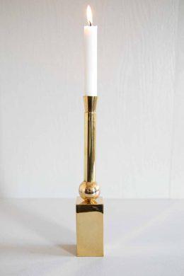 Ljusstake Rocket hög bas mässing 29 cm