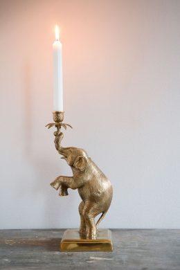 Ljusstake elefant höger mässing