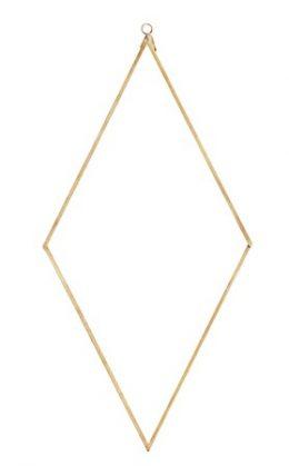 Madam Stoltz Spegel diamant 41x20 cm - Mässing