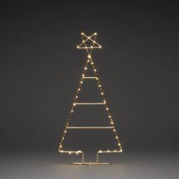 Metallgran 60cm LED (Mässing/guld)