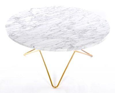 O table soffbord - marmor/mässing