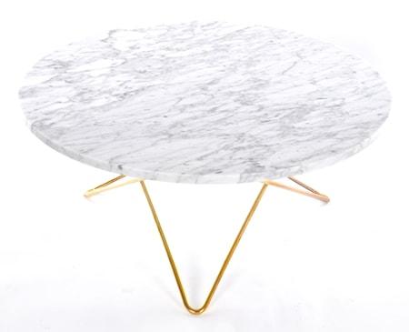 O table soffbord – marmor/mässing