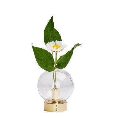 Orbis Vas 8x7 cm Glas/Mässing