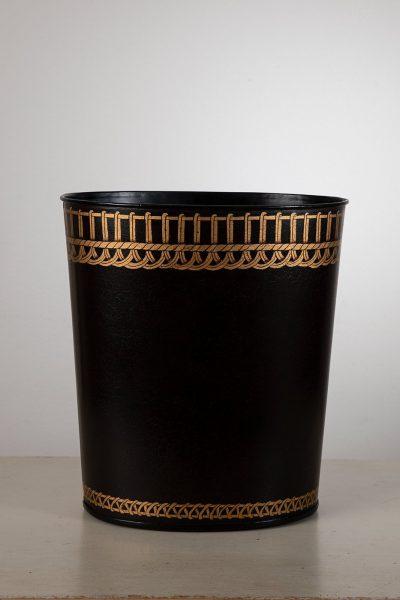 Papperskorg svart guld