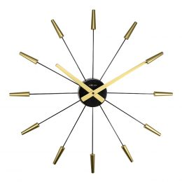 Plug Inn Väggklocka 58 cm Guld