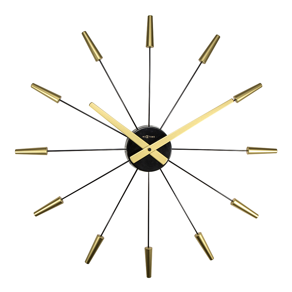 NeXtime – Plug Inn Väggklocka 58 cm Guld