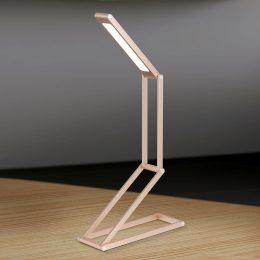 Praktisk LED-bordslampa Falto med batteri guld