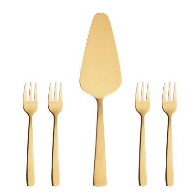 Raw Serveringsset 5 delar Guld