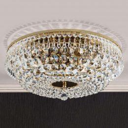 SHERATA - rund taklampa, guld 45 cm