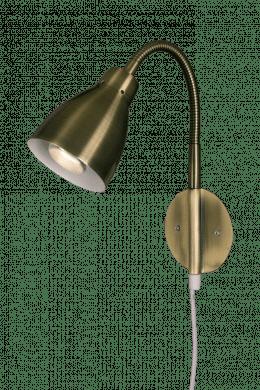 Sarek vägglampa (Borstat stål)