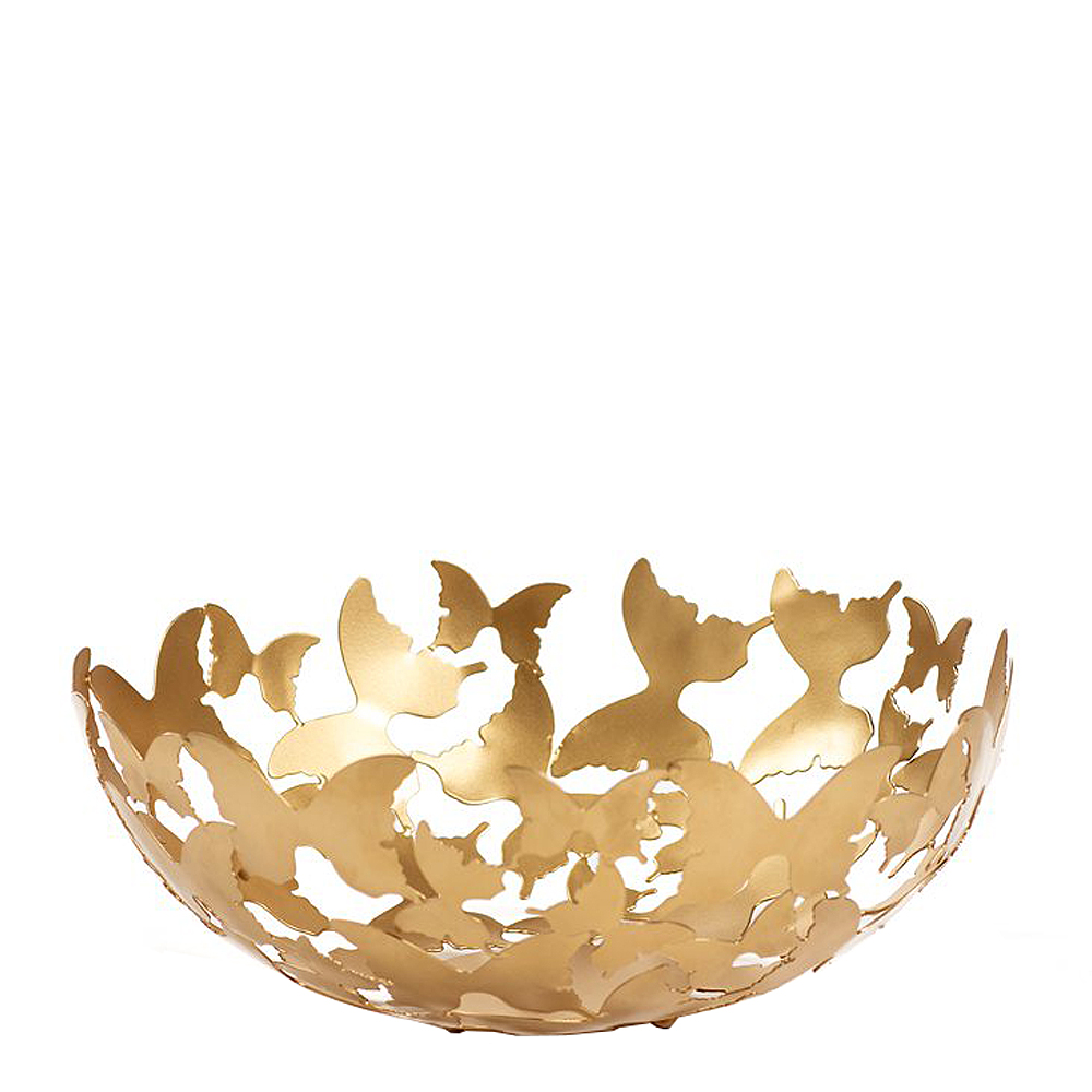 Gynning Design – Skål Butterfly 30 cm Guld