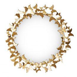 Spegel Butterfly 64x69 cm Guld