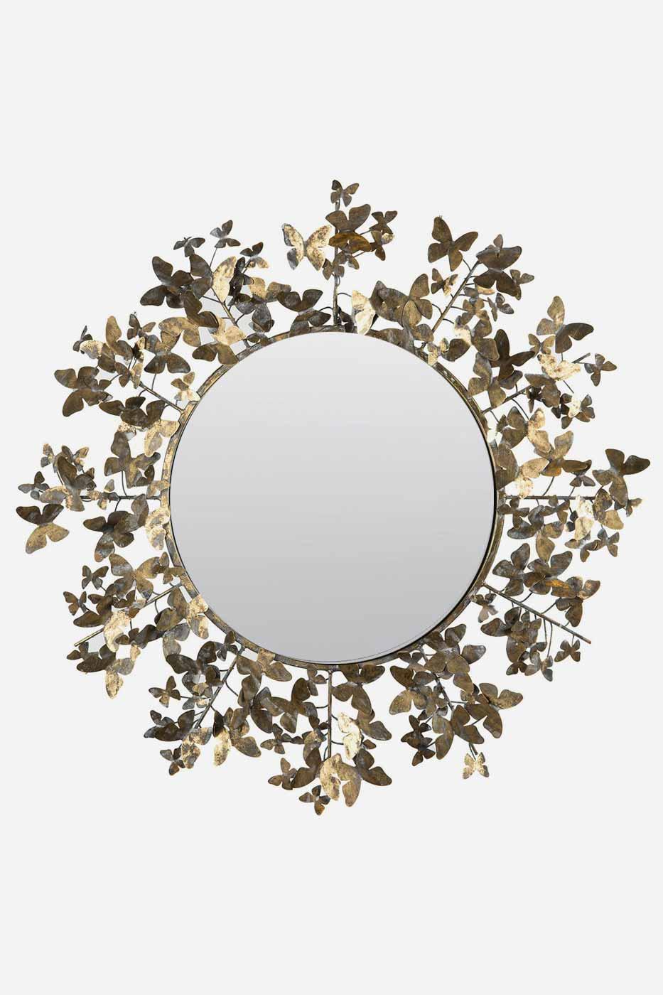 Spegel fjäril 80 cm rund