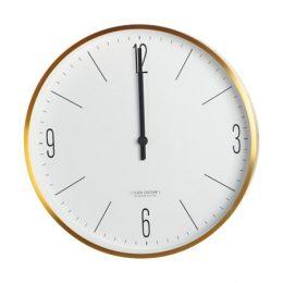 Väggklocka Clock Couture Ø 30 cm - Guld/Vit