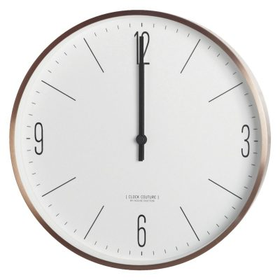 Väggur, Clock Couture, Vit/Guld House Doctor
