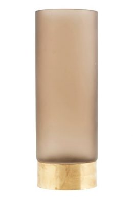 Vas Base Ø 10 cm - Ljusbrun/guld